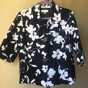 Coldwater Creek Cropped Floral Jacket